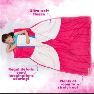 Silver Lilly Plush Pink Dress Blanket Sleeping Bag